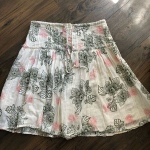 UO LUX Cotton Floral Button Lined Skirt 3